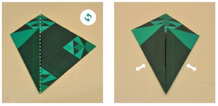 Etape 2 : On commence le pliage de l'origami